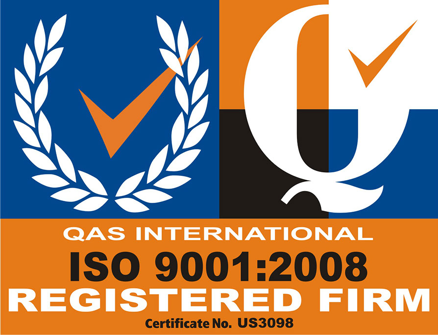 QAS International ISO 9001:2008 Registered Firm Certificate No. US3098